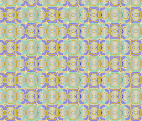 deux-visages lime bleu fabric by jojocadelle on Spoonflower - custom fabric
