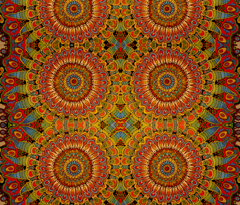 Mandala Organism fabric by hippopo_vintage on Spoonflower - custom fabric