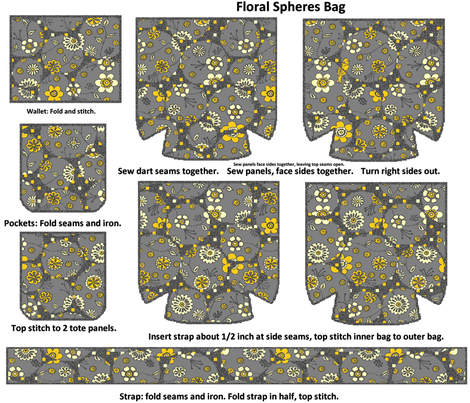 Floral Spheres Tote Bag fabric by kdl on Spoonflower - custom fabric