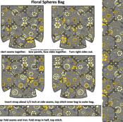 Floral Spheres Tote Bag