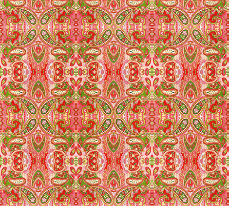 Just Peachy Paisley fabric by whimzwhirled on Spoonflower - custom fabric