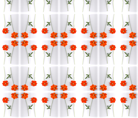 2 Cosmo Flowers fabric by carmenscottagecreations on Spoonflower - custom fabric