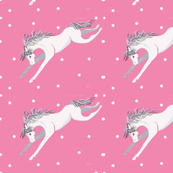Wild Pony on Blush Background