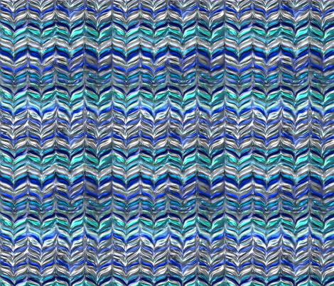 Glamor puss blues, LARGE by Su_G fabric by su_g on Spoonflower - custom fabric