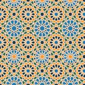Geo Floral Blue