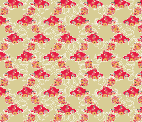 retro_3 fabric by deborartiste on Spoonflower - custom fabric