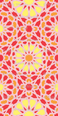 Geo Floral Red