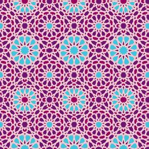 Geo Floral Purple