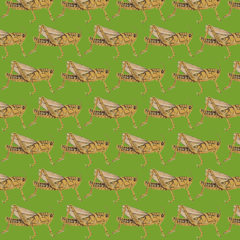 hopper green fabric by fabricfaeries on Spoonflower - custom fabric