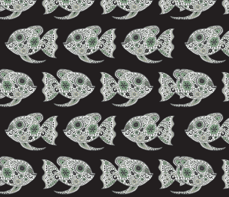 Go With the Flow Through the Dark Little One fabric by lovekittypink on Spoonflower - custom fabric