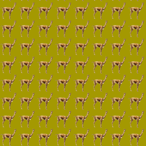 llama and lime fabric by weebeastiecreations on Spoonflower - custom fabric