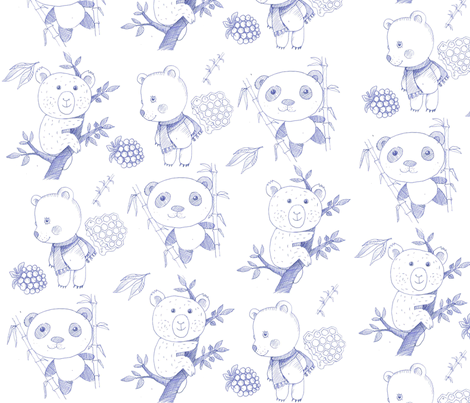bears fabric by katja_saburova on Spoonflower - custom fabric