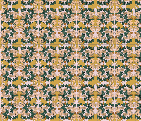 Elephants in flower garden fabric by ianiya on Spoonflower - custom fabric