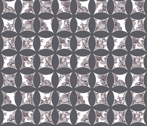 cathedral window lace grey fabric by katarina on Spoonflower - custom fabric