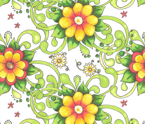 Shirley fabric by neetz on Spoonflower - custom fabric