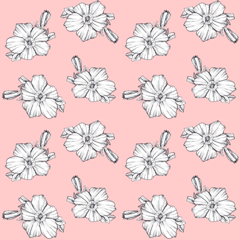 Pink Petunia fabric by countrygarden on Spoonflower - custom fabric