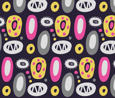pink_yellow_gray fabric by katja_saburova on Spoonflower - custom fabric