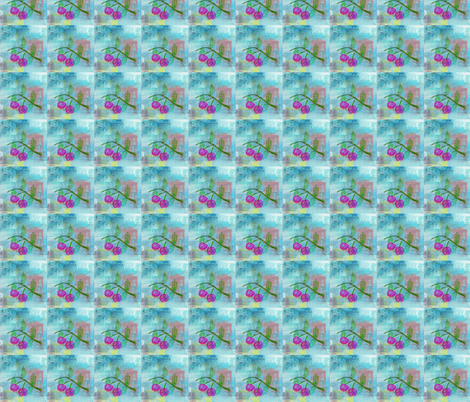 crayon_cherries-ed fabric by isa_creations on Spoonflower - custom fabric