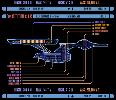 Constitution Class LCARS display fabric by retropopsugar on Spoonflower - custom fabric
