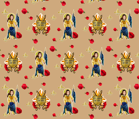 Saint Joan of Arc fabric by magneticcatholic on Spoonflower - custom fabric
