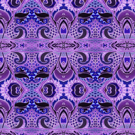 Midnight Under the Sea fabric by edsel2084 on Spoonflower - custom fabric