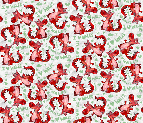 dragons_2a fabric by lusyspoon on Spoonflower - custom fabric