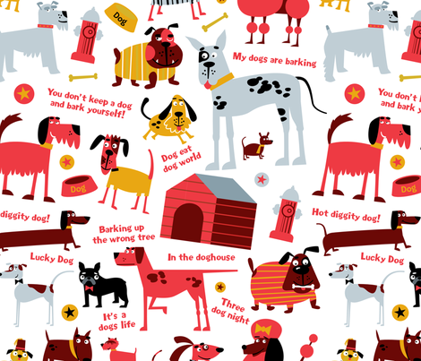 Lucky Dog fabric by edmillerdesign on Spoonflower - custom fabric