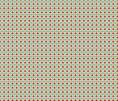 Super Mario 1UP - Green fabric by montyfull on Spoonflower - custom fabric