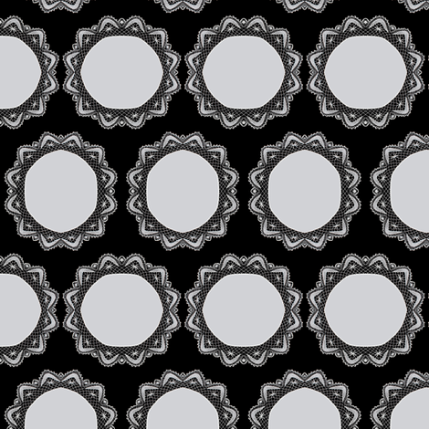 lace dots fabric by nalo_hopkinson on Spoonflower - custom fabric