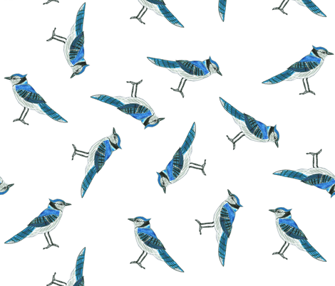 Blue Jays fabric by chickie on Spoonflower - custom fabric