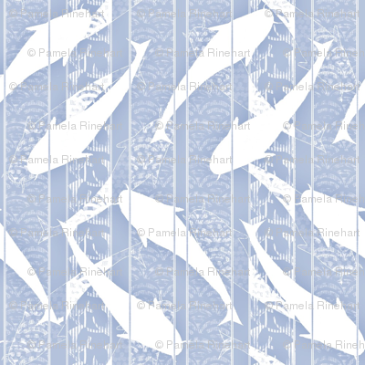 fishstripe blue and white