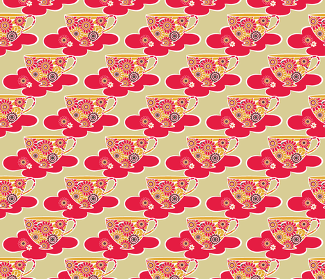retro_cup_1 fabric by deborartiste on Spoonflower - custom fabric