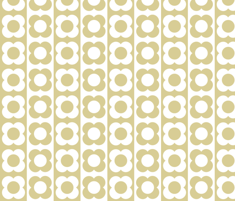 Retro Flower Beige White fabric by shelleymade on Spoonflower - custom fabric