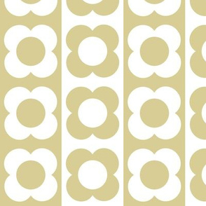 Retro Flower Beige White