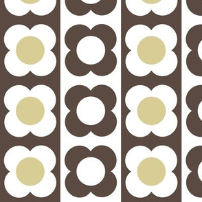 Retro Flower Beige Brown