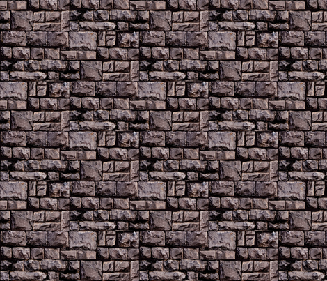 bricks fabric by mysticalarts on Spoonflower - custom fabric