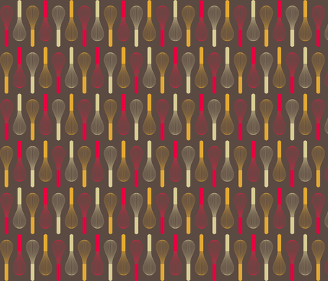 Kitchen Whisks fabric by sarau on Spoonflower - custom fabric