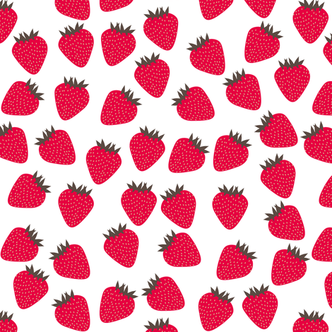 Retro Strawberries fabric by shelleymade on Spoonflower - custom fabric