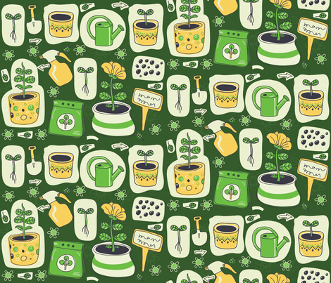plant_growing-01 fabric by katja_saburova on Spoonflower - custom fabric
