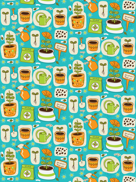 plant_growing2-01 fabric by katja_saburova on Spoonflower - custom fabric