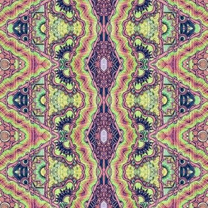 Pseudo Batik Tie Dye Hippie Guru Cloth
