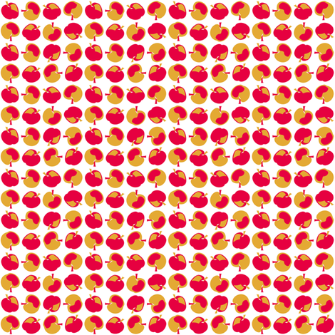 retro_kitchen_co-ordinate_apples fabric by pavlova_is on Spoonflower - custom fabric
