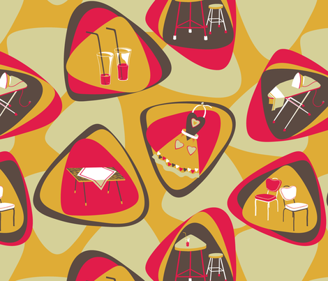 Happy kitchen time! fabric by gavannapatterns on Spoonflower - custom fabric