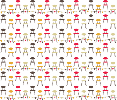 1950s_kitchen_chair_white fabric by peppermintpatty on Spoonflower - custom fabric