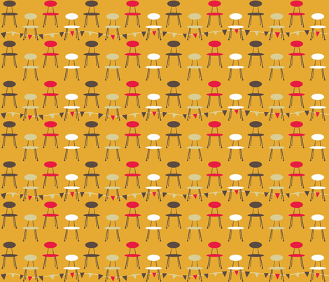 1950s_kitchen_chair_mustard fabric by peppermintpatty on Spoonflower - custom fabric