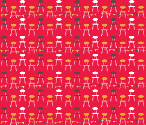 1950s_kitchen_chair_red fabric by peppermintpatty on Spoonflower - custom fabric