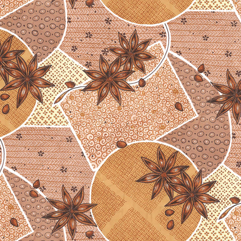 Star Anise fabric by siya on Spoonflower - custom fabric