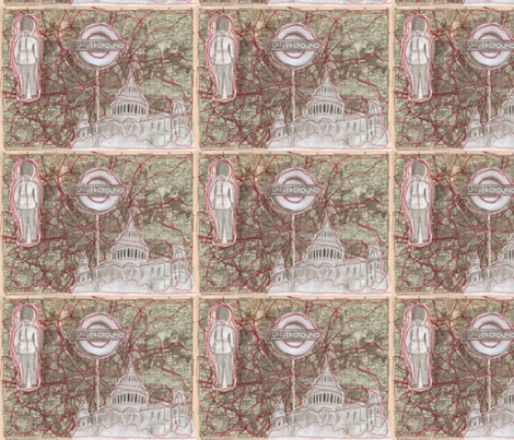 London fabric by lusyspoon on Spoonflower - custom fabric