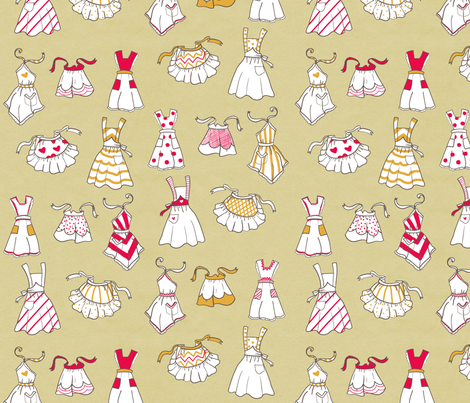 aprons fabric by youngcaptive on Spoonflower - custom fabric