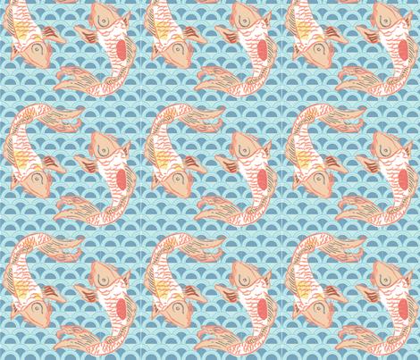 koi fabric by p_kok on Spoonflower - custom fabric
